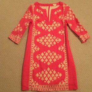 J Crew Watermelon-colored Linen Dress; Sz 00